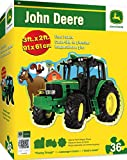 MasterPieces John Deere Plowing Through - 36 Piece Kids Shaped Floor Puzzle