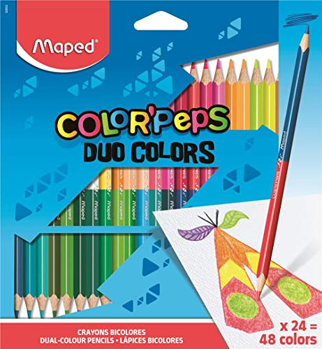 Maped Color'Peps Duo Coloured Pencils (24 Pack) (Maped Color Peps)