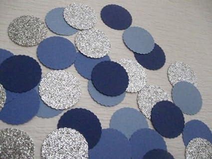wedding circle confetti bridal shower confetti Blue wedding confetti 100 Blue Circle Confetti Baby shower circle confetti party decor