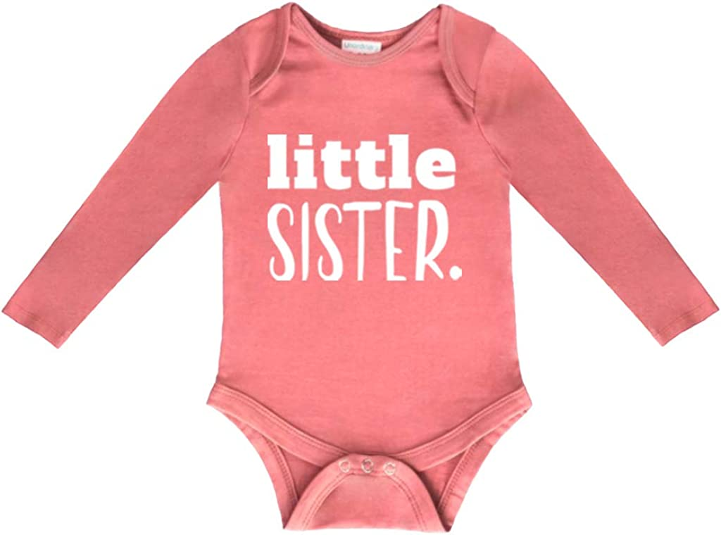 Little Sister Newborn Outfit Baby Coming Home Bodysuit Girl Rompers Gift Clothes