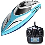 "Force1 RC Boat Pool Toys - ""H102 Velocity"" High Speed Remote Control Boat with Extra Battery + Toy Boat Capsize Recovery for Fast RC Boat Racing"