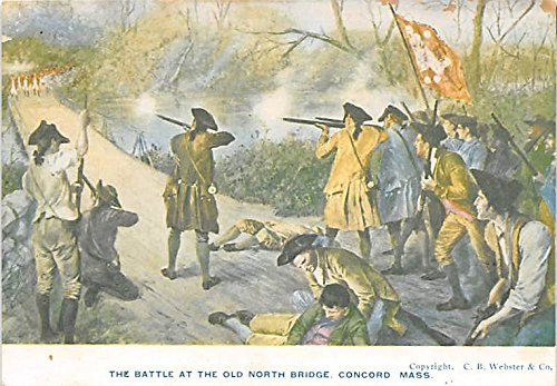 (The Battle at the Old North Bridge Concord Massachusetts)