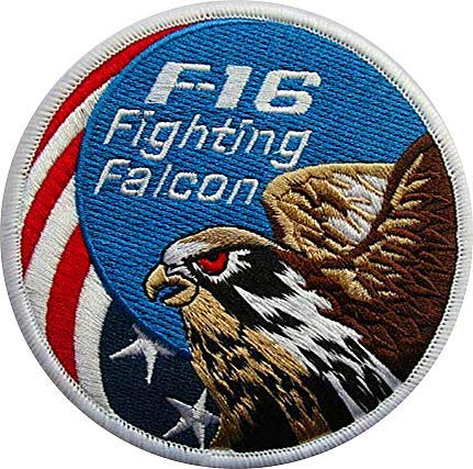 AIR Force Fighting Falcon F-16 Military Hook Loop Tactics for sale  Delivered anywhere in USA