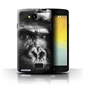 STUFF4 Phone Case / Cover for LG F60/D390N/D392 / Gorilla/Monkey Design / Mono Zoo Animals Collection