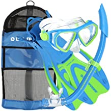 U.S. Divers Dorado Mask, Proflex Fins and Sea Breeze Snorkel Combo Set