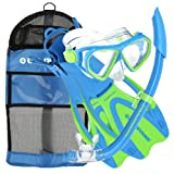 U.S. Divers Junior Dorado Mask, Proflex Fins and Sea Breeze Snorkel Combo Set, Fun...