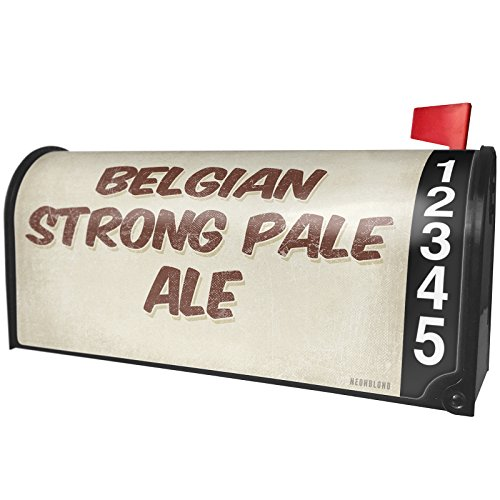 NEONBLOND Belgian Strong Pale Ale Beer, Vintage Style Magnetic Mailbox Cover Custom Numbers