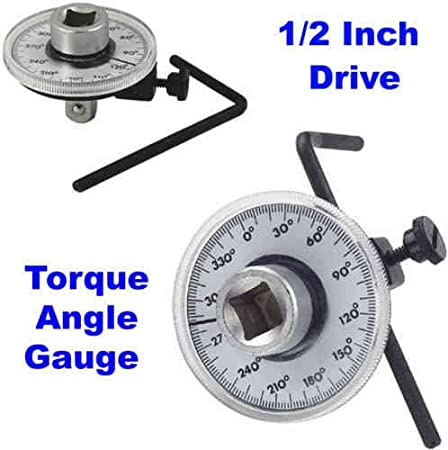 New 1/2 Inch Drive Torque Angle Gauge Meter Angle Rotation Measurer Tool Wrench
