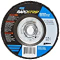 "Norton Bear-Tex Rapid Strip Depressed Center Nonwoven Abrasive Wheel, Type 27, Fiber Backing, 5/8-11"" Arbor, Silicon Carbide, 4-1/2"" Diameter, Grit Extra Coarse (Pack of 10)"