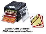 Samson ''Silent'' Dehydrator 6-Tray with Digital Controls PLUS 6 SAMSON SILICONE Sheets