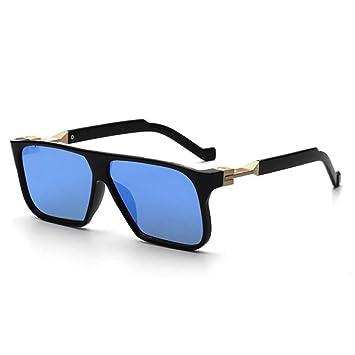 ZRTYJ Gafas de Sol Estilo Futurista Rectángulo Moda para ...