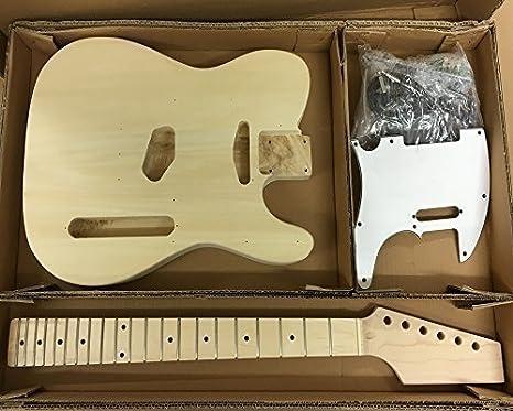 Coban Guitars HY190BR Guitarra Eléctrica Kit construcción para estudiante & Luthier Proyectos - blanco accesorios,