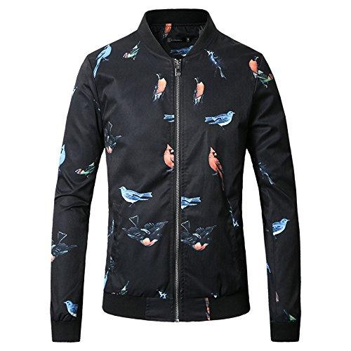 Los hombres chaquetas de primavera y verano, China viento sello de aves cazadoras de hombres en un gran número de negros ,XL