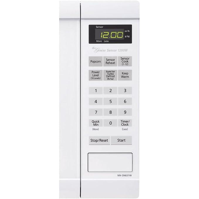Panasonic NN-SN651W 1200W Blanco - Microondas (1200 W, Tocar, Blanco, 34,3 cm, 1480 W, 525,5 mm): Amazon.es: Hogar