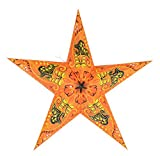 Quasimoon PaperLanternStore.com 24'' Orange Swan Paper Star Lantern, Hanging Decoration