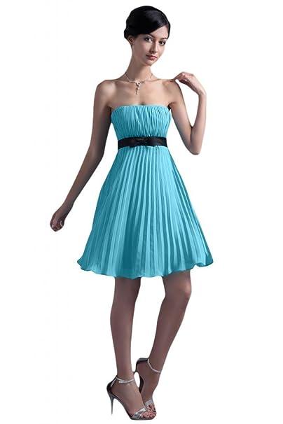 Sunvary Simple gasa corto sin tirantes vestido de baile vestido de fiesta vestido de dama