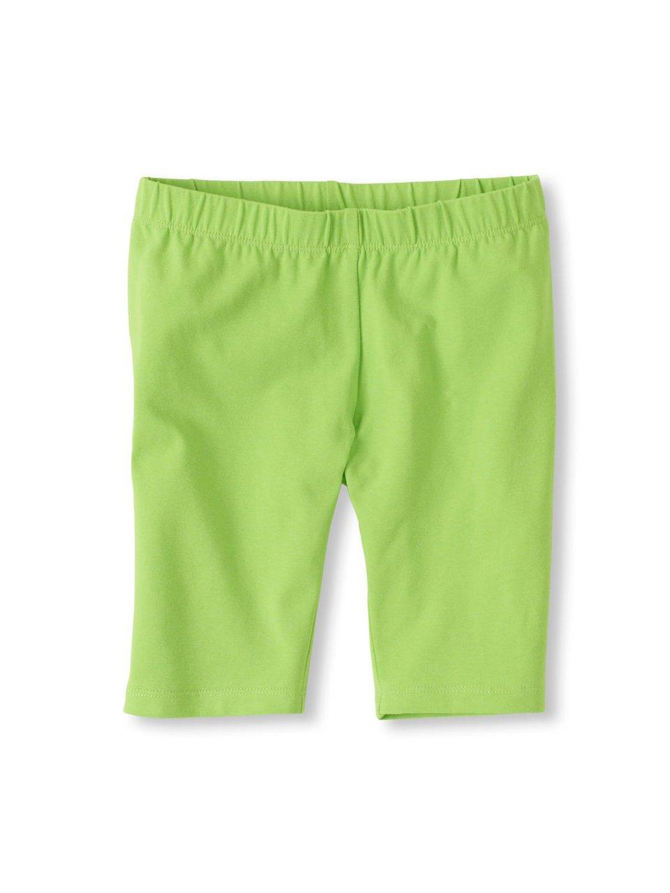Vivian's Fashions Legging Shorts - Girls, Biker Length, Cotton (Lime, Medium)