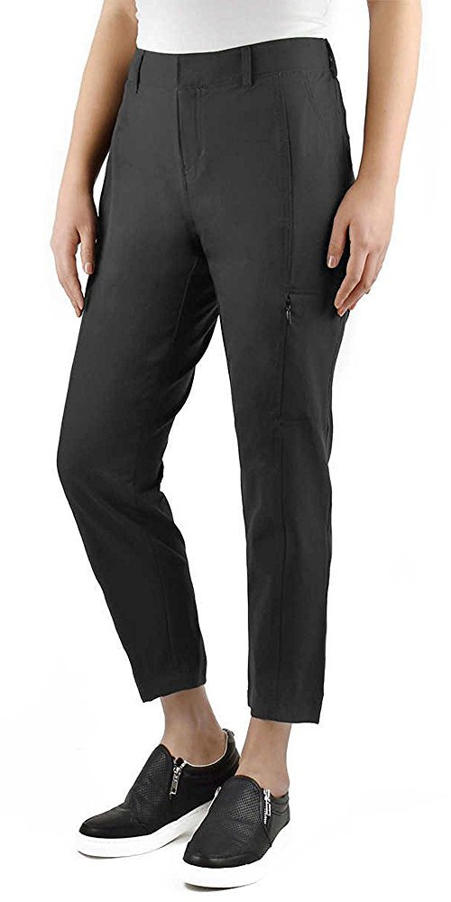 Kirkland Signature Ladies' Ankle Length Travel Pant (12, Steel Grey)