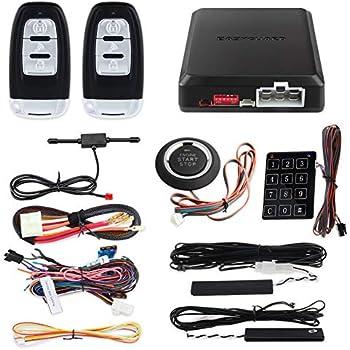 Amazon.com: EASYGUARD EC004 Smart RFID Car Alarm System Push ...
