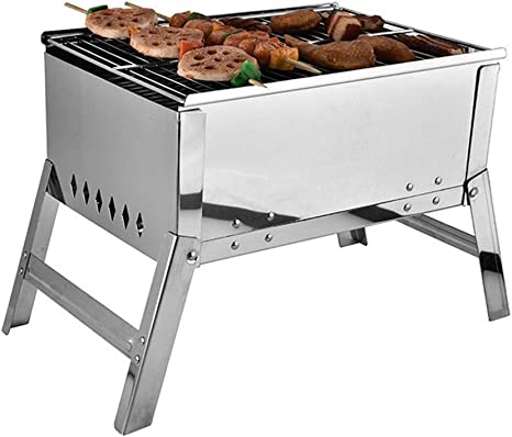 bbq-a Portable Barbecue Stainless Steel Grill Foldable ...