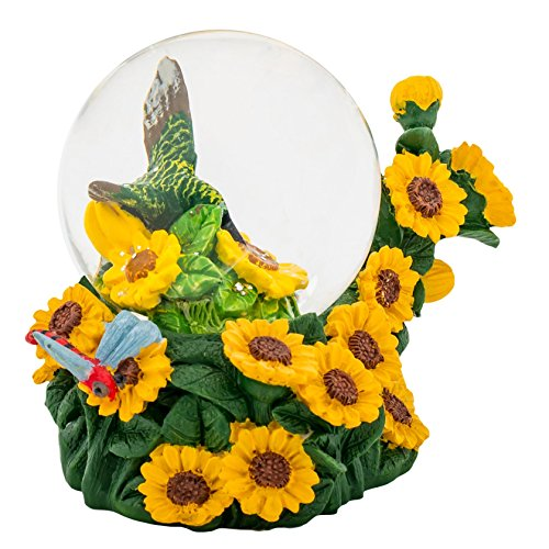 Hummingbird Sunflower 3 x 3 Miniature 45MM Water Globe Table Top Figurine