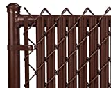 4ft Brown Ridged Slats for Chain Link Fence