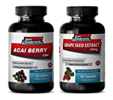 Product review for weight loss extreme - GRAPE SEED EXTRACT - ACAI BERRY - grape seed and reservatrol supplement - (2 Bottles Combo)