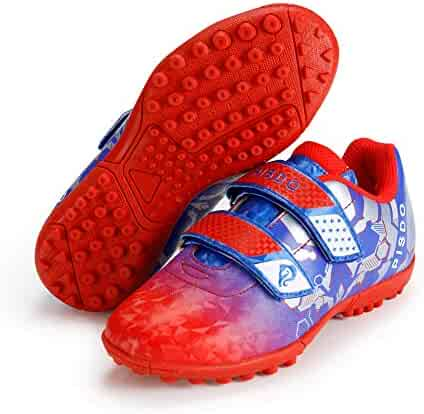 b23a290a9 PISDO Kids Soccer Cleats Indoor Outdoor Training Turf Soccer Shoes for Boys  and Girls (