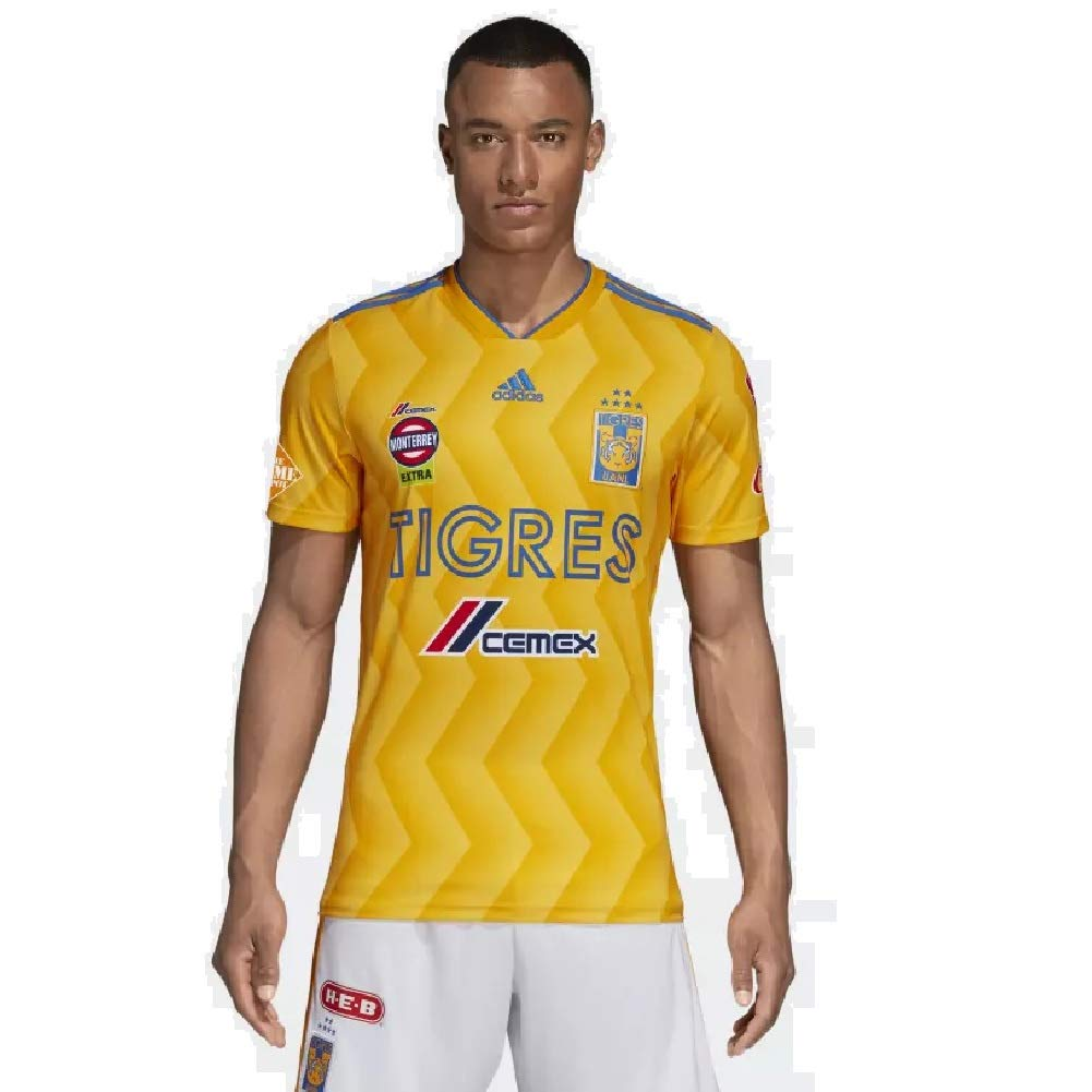 Amazon.com   adidas 2018 19 Tigres UANL Home Jersey Small (Collegiate Gold Bold  Gold Blue)   Sports   Outdoors 44f59e3ae