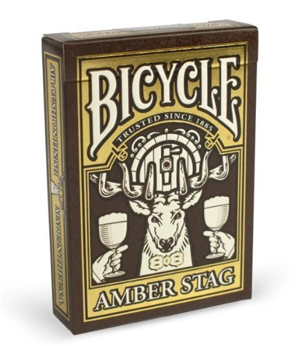 Limited Edition Rare Card - Bicycle New Amber Stag Deck Limited Unique Collector's Edition Rare