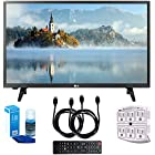 "LG 28LJ430B-PU 28"" Class HD 720p LED TV (2017 Model) with Two (2) 6 Foot HDMI Cables, Professional Screen Cleaning Kit, and 750 Joule 6-Outlet Surge Adapter Bundle"