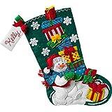 Bucilla 86864 - Kit de calcetín de muñeco de nieve con regalos