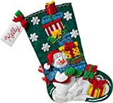 Bucilla 86864 Snowman with Presents Stocking Kit