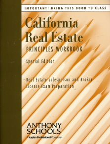 California Real Estate Principles Workbook Special Edition (Real Estate Salesperson and Broker License Exam Preparation) ebook