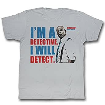Brooklyn Nine-Nine Men's Detect T-shirt Small Silver