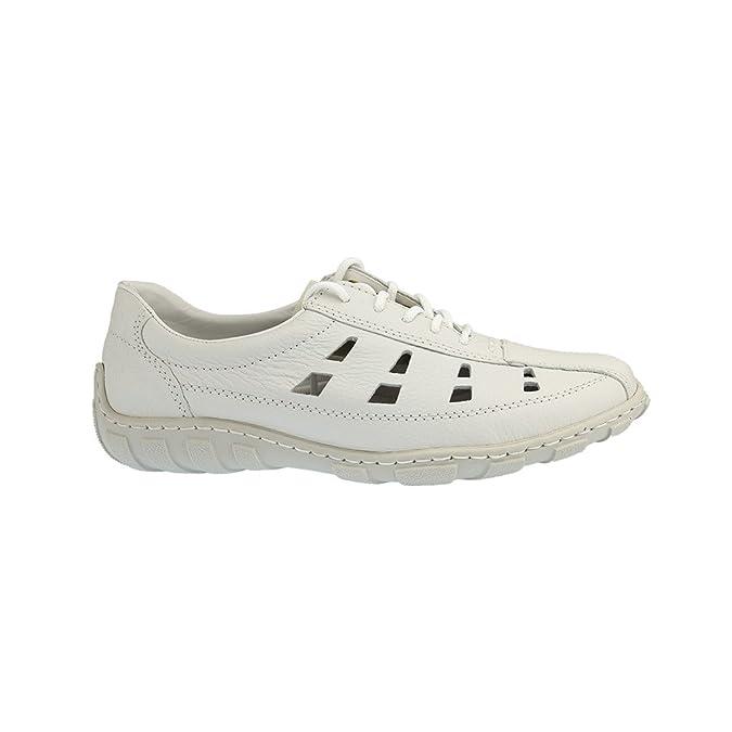 RIEKER Damen Schnuerschuhe, Ballerinas weiss, 950520-3: Amazon.co.uk: Shoes  & Bags