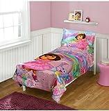 Dora the Explorer Toddler Bedding 4-Piece Set, La Imagination