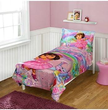 Dora The Explorer Toddler Bedding 4 Piece Set, La Imagination Design Ideas