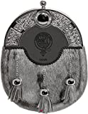 Love Dress Sporran 3 Tassels Studded Targe Celtic Arch Scottish Clan Name Crest