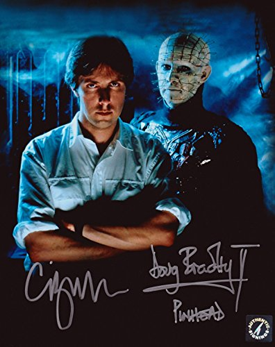 Clive Barker & Doug Bradley Pinhead Autographed Hellraiser 8x10 Photo (Hellraiser Autographed Poster)