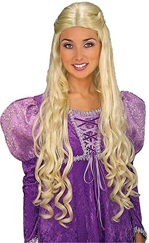 [Forum Novelties Women's Medieval Queen Guinevere Wig, Blonde, One Size] (King Arthur Costume Uk)