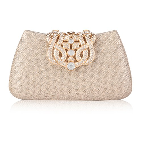 Damara Bags Wedding Champagne Crown Paillette Gauze Shoulder Clutch Womens Ow0rRO