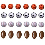Mini Foam Sports Ball for Kids, Mini Soccer Ball ,Basketball, Football, Baseball 24 Counts by SHXSTORE