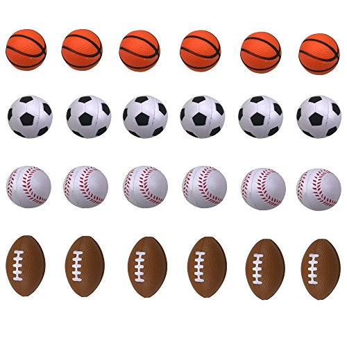 (Shxstore Mini Foam Sports Ball for Kids, Mini Soccer Ball,Basketball, Football, Baseball 24)