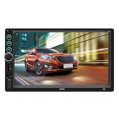 Double Din 7 Inch Car Stereo Bluetooth Touch Screen MP5 Player FM Radio In-Dash Car Audio Receiver, Hands Free…