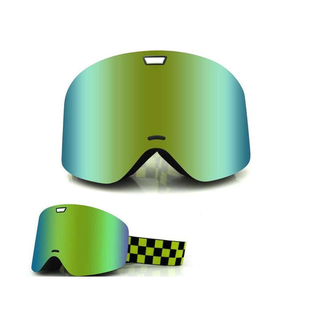 He-yanjing Double Lens , Anti-Fog UV Protection Ski Goggles ,Fashion Outdoor Hiking ski Goggles (Color : Green) by He-yanjing