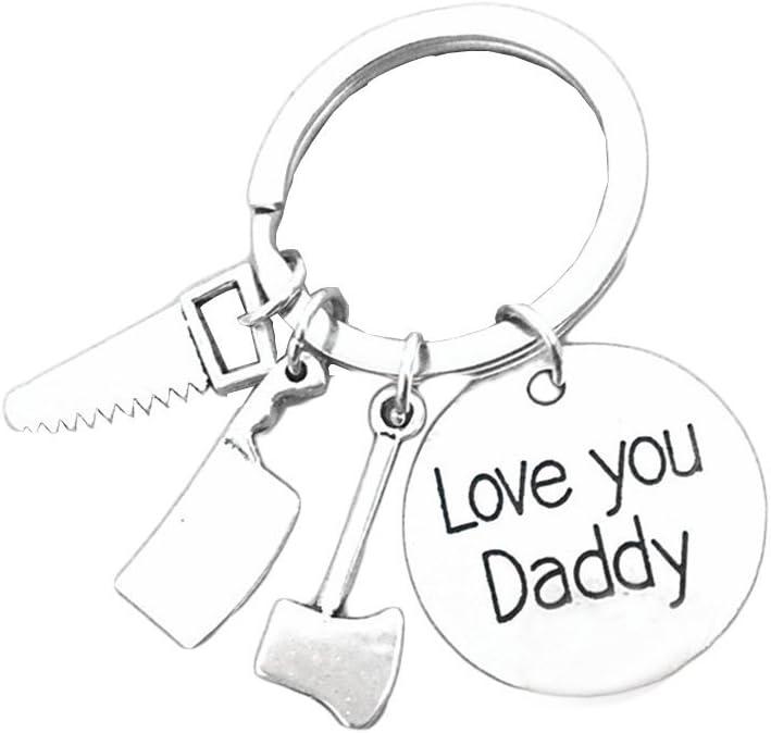 bestomz día del padre llavero–Love you DADDY Padre llavero joyas clave para regalo del día de padre