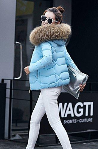 Giubbotto Corta Donna Blu Chiaro Moda Giacca Con Giù Inverno Autunno Wanyang Cappuccio Trend Caldo E Grande Di gS7qw