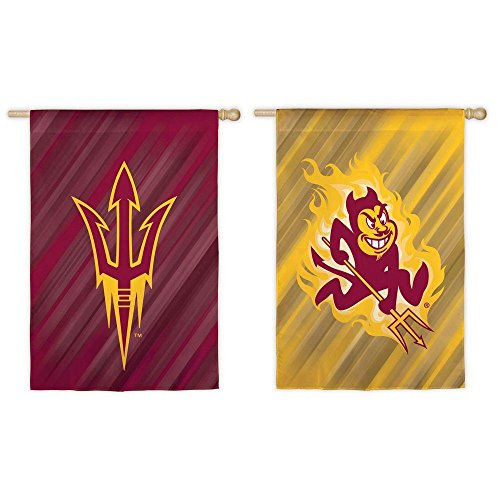 Sun Devils Flag - Fan Essentials NCAA 28 in. x 44 in. Two-Sided Suede House Flag (Arizona State Sun Devils)
