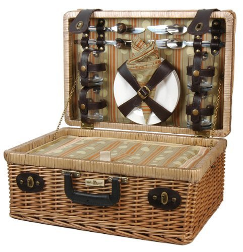 (Willow Picnic Basket w Leather Appointments by Picnic & Beyond)